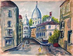 Kees van Dongen - Montmartre et le sacré-coeur de Paris