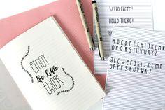 Du brauchst neuen Input für dein Handlettering? Ich zeige dir, wie du schmale Schriften selbst gestalten kannst und Abwechslung in dein Lettering bringst!