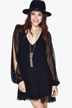 Sırt Dekolteli Siyah Elbise