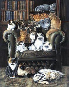 A Cat's Life  by Charles Wysocki