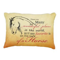 Trotting Horse Holiday Christmas Accent Pillow. This classic and stylish equestrian christmas or holiday horse themed design features a trotting white horse with a pretty damask pattern and red banner across the middle for a very festive look. This equine gift is perfect for people who love horses of any age!