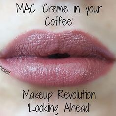 Hey babes! Here are the swatches for MAC 'Creme in your coffee' (20,50€) vs. Makeup Revolution (3,99€). I think they're pretty similar, absolutely love it. MUR might have a few more reddish pigments, but still - such a great dupe!  What do you think? Do you like it?