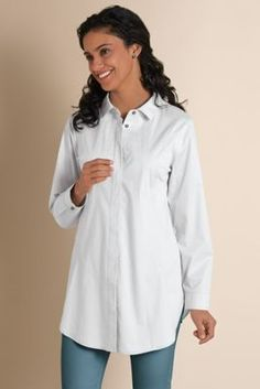 Seams Perfect Shirt - Womens Pleated Shirt, Womens Tunic Shirt | Soft Surroundings