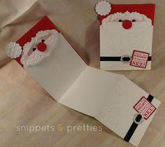 Santa Beard Card. Fun idea