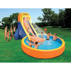 Banzai The Plunge Inflatable Water Slide and Pool: Outdoor Play : Walmart.com
