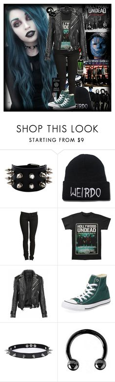 """""""Hollywood Undead"""" by chemicalfallout249 ❤ liked on Polyvore featuring Burberry, Converse, Trend Cool, Urbiana, emo and alternative"""