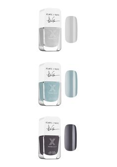 Blaire Eadie from the style blog Atlantic-Pacific partners up with Formula X nails to launch three lust-worthy nail colors. The shades are soft enough to go with all your day-to-night outfits. Choose from Pacific Haze, a light gray, Atlantic Mist, a dreamy light blue, and Taken By Storm, a foggy charcoal tone.