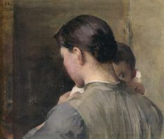helene schjerfbeck 1887 woman with a child