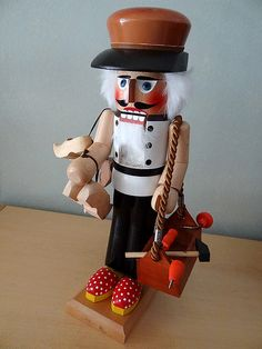 Our German Wooden Nutcracker Collection - Old Friends    {Love this idea for a cute christmas gift. | Gorgeous wooden toys. | Great wooden toy ideas! I'd rather have wood toys scattered around our home than plastic. | Great toy for my kid! This would last much longer than the cardboard ones.|     Wood toy
