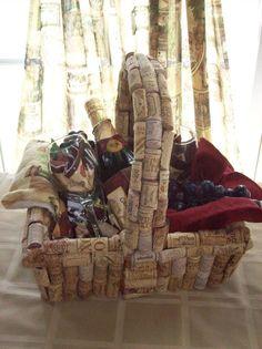 wine cork basket