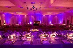 burkle events wedding planner | purple wedding reception decor photo credit Oz Wroe photography
