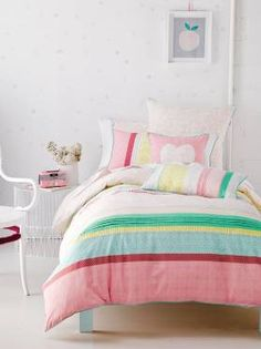 SINGLE MINNIE PINK QUILT COVER SETS, MINNIE QUILT COVER SETS PINK