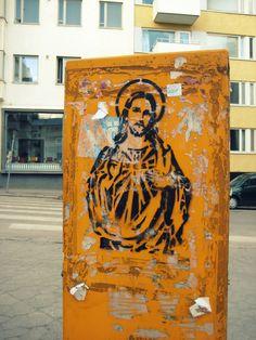| Jesus in Helsinki | A Jesus stencil form Helsinki 2010