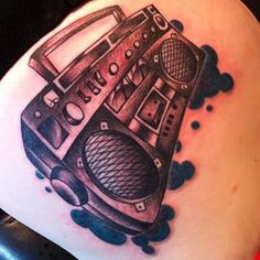 A little #boombox from today.. #ghetto #blaster #tattoo #nofilter
