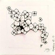 Zentangle pattern Buttercup