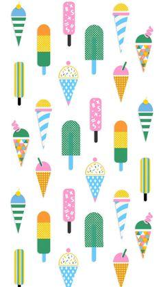 Glaces Ice cream motifs