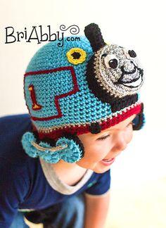 Crochet Train Hat PATTERN (PDF FILE)