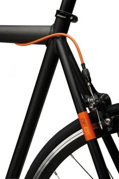 Orange on black