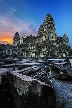 Angkor Wat Sunset by Christopher Waddell