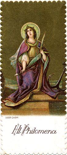 Saint Philomena Holy Card Catholic Art Saints Roman Wallpaper