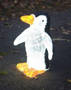 Amazon.com - Mr. Light 3D Molded Solar Penguin with 120 Bright White LEDs - Landscape Lighting