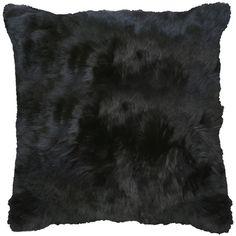 "Roberta Black Peruvian Alpaca Fur Pillow - 20""x20"" (305 CAD) ❤ liked on Polyvore featuring home, home decor, throw pillows, pillows, decor, fillers, accessories, black accent pillows, black home decor and black throw pillows"