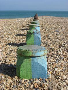 Pebble beach, Eastbourne by HallAnnie, via Flickr