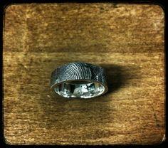 Fingerprint ring silver 925