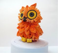 Cute quilled owl