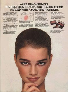 Brooke Shields for Aziza, 1979.