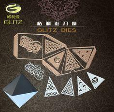 Triangle 3D box Metal Cutting Dies Stencils for DIY Scrapbooking/photo album Decorative Embossing DIY Paper Cards
