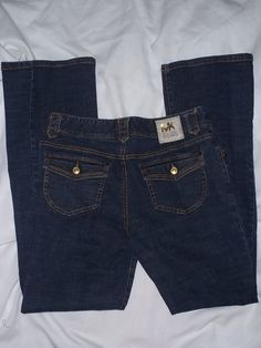 Misses Michael Kors Bootcut Jeans With Gold Trim Size: 8 #MichaelKors #BootCut