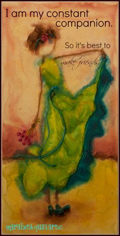 "12""x6"" (approximate size) ""Constant Companion"" archival print of original colorful whimsical artwork by Marabeth Quin"