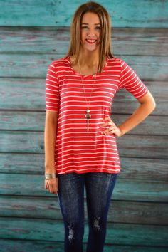 Red Keyhole Top