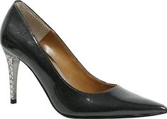 J. Renee Women's Shoes in Pewter Polyurethane Color. Make a glamorous statement day or night in the Maressa Pump featuring a metal heel covered in an embossed snake print design. Memory foam insole Metal heel Embossed snake print design.