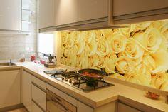 Kuchynská fototapeta - Žlté ruže | DIMEX
