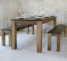 Pacha Design Oak and Slate Table