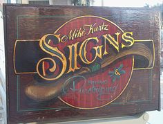 vintage SiGn Kit, hand lettered, gold leaf, illustrated, contains authentic hand lettering brushes and pin striping swords Truck Lettering, Vintage Typography, Lettering Design, Sign Design, Painted Letters, Hand Painted Signs, Antique Signs, Vintage Signs, Sign Fonts