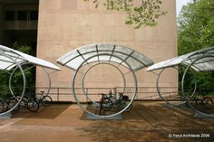 Form follows function with this state-of-the-art <b>bike</b> shelter design