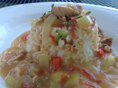 Mardi Gras Madness–Chicken Étouffée/ Tonjastable.com Main Dish Salads, Main Dishes, Chicken Etouffee, How To Dry Oregano, Stick Of Butter, One Pot Meals, Mardi Gras, The Best, Madness