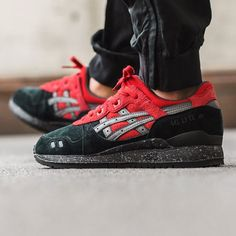 59c67e8d07c Asics Gel-Lyte III  Black Red  Xmas Pack Basket Tendance 2018