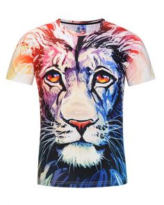 Short Sleeve T-Shirt Funny Crewneck Graphic Casual Printed Tee Tops Kineede 3D T-Shirt