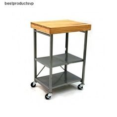 #Ebay #Folding #Kitchen #Cart #Island #Side #Wood #Top #Steel #Towel #Bar #Storage #Shelves #Wheels #Origami