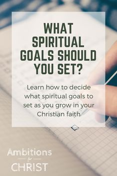 Trying to decide what spiritual goals to set? Here are some ways to determine attainable, measurable, and actionable spiritual goals that will help you grow in you Christian faith. Spiritual Disciplines, Spiritual Practices, Spiritual Growth, Christian Women, Christian Living, Christian Faith, Christian Encouragement, Spiritual Encouragement, Encouragement Quotes