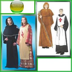 McCalls 4627 Knights Templar Medieval Cloak Monk Robe Patterns