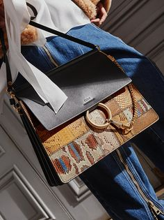 Mix it up – a patchwork of textures brings a fresh attitude to the Faye bag for Fall 2016