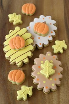 Double Decker Fall Decorated Cookies with step-by-step directions