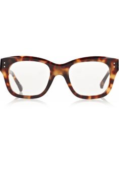 Tortoiseshell acetate Pointed tips, light-gold finishings Can be fitted with prescription lenses Come in a designer-stamped black soft case and display box Barely There Makeup, Optical Glasses, Geek Chic, Linda Farrow, Prescription Lenses, Reading Glasses, Eyewear, Fashion Accessories, Pairs