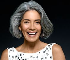 #grey_hair  . . .I love her hair style, very becoming to her . . .
