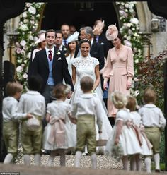 ciao! newport beach: pippa gets married! Kate Middleton's sister wed James Matthews this morning in a quaint church near her family home in Bucklebury, England. I just love a royal wedding, and this one's definitely the wedding of the year! And what could be better than having the adorable Prince George and Princess Charlotte in the wedding party?